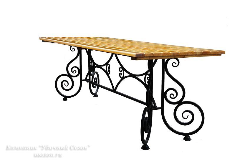 Кованые столы размеры